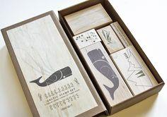 whale stamp set