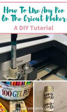 I love this easy diy hack for my Cricut machine. Read to learn how you can use almost any pen on your Cricut. Pot Mason Diy, Mason Jar Crafts, Diy Hanging Shelves, Floating Shelves Diy, Diy Home Decor Projects, Diy Projects To Try, Decor Ideas, Vinyl Projects, Craft Projects