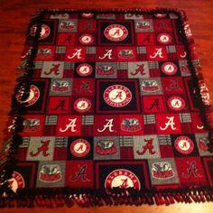 Roll Tide no sew blanket