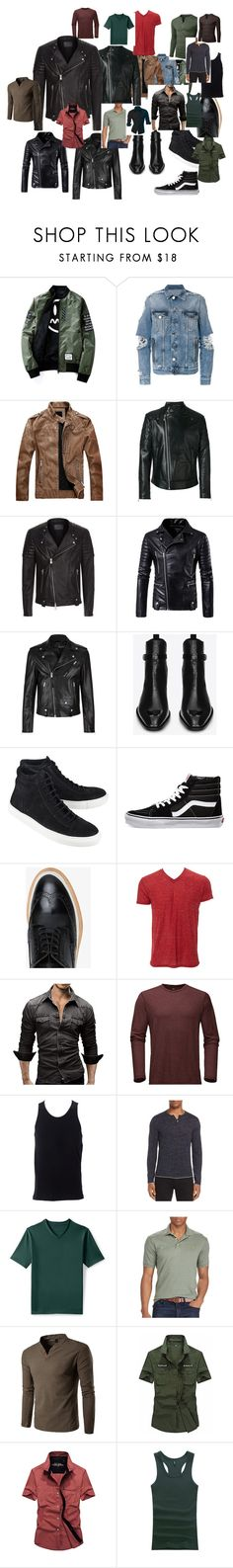 """test"" by ekaterinaromakina on Polyvore featuring Balmain, Versace, AllSaints, Alexander McQueen, Yves Saint Laurent, The Last conspiracy, Vans, WeberHodelFeder, Simplex Apparel и The North Face"