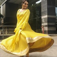 All of your dreams are on the other side of fear. Rise and shine 💖✨ Salwar Suit Neck Designs, Neck Designs For Suits, Indian Gowns Dresses, Indian Outfits, Latest Outfits, New Outfits, Yellow Lehenga, Classy Suits, Ballroom Costumes