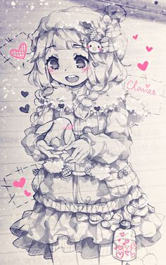 Look, I found a bunny! *looks up* I'm Claire, oh! and I'm sorry! I get distracted sometimes... But... Bunny!