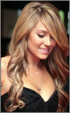 Light brown hair with lowlights and highlights