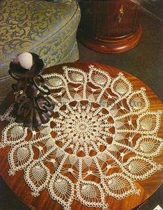 Ivelise Feito à Mão: Centrinhos Maravilhosos De Crochê Em Ponto Abacaxis!