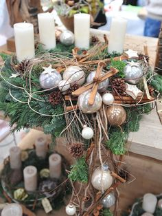 Adventsausstellung | Lindenhof Blumen Christmas Advent Wreath, Winter Christmas, Christmas Holidays, Xmas Crafts, Diy Crafts, Nature Decor, Xmas Decorations, Christmas Inspiration, All Things Christmas