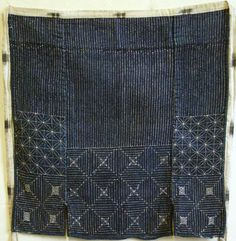 sashiko apron, handstitched Japanese textiles, indigo dyed. @Melissa Wastney, I believe this website will have you stuck to the screen for a good long while. Amazing handstitched textiles with stories.http://threads.srithreads.com/tag/sashiko/