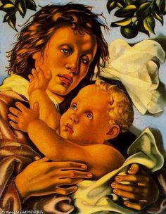 Quattrocento ~ by Tamara de Lempicka (1898-1980): Polish born American Art Deco painter. http://es.wahooart.com/A55A04/w.nsf/OPRA/BRUE-8EWRHVhttp://es.wahooart.com/A55A04/w.nsf/OPRA/BRUE-8EWRHV