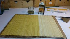 Tutorial - super easy - to make dollhouse floor from wooden placemat