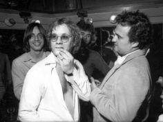 Warren Zevon, John Belushi, and Jackson Browne circa 1979