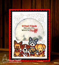 Life would be Ruff Dog card by Larissa Heskett | Woof Pack Stamp Set and Frames & Flags die set by Newton's Nook Designs #newtonsnook