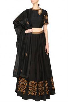 Radhika Airi Black Embroidered Lehenga Set #happyshopping #shopnow #ppus