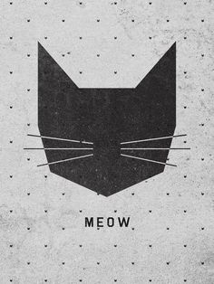 MEOW Art Print by Wesley Bird