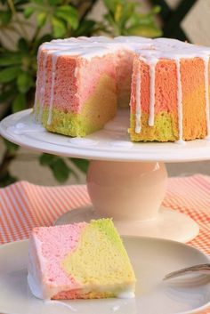 Rainbow Angel Food Cake by Bea Roque, via Flickr