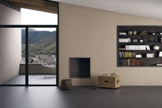 #Inalco. Poise Series in Camel colour and extra-large 150x300 cm #porcelain format. Inspired in asian cultures.