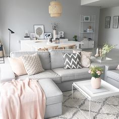 57 inspiring apartment living room decorating ideas 49 ⋆ All About Home Decor Living Room Grey, Interior Design Living Room, Living Room Designs, Living Room Decor Ideas Grey, Scandi Living Room, Cozy Living, Living Rooms, Living Room Inspiration, Home Decor Inspiration