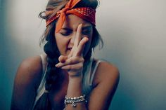 cute way to wear a bandana