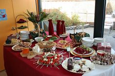 Holiday party: buffet table | Flickr - Photo Sharing!