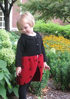 Ravelry: Ladybug Sweater Coat pattern by Alison Stewart-Guinee  #knit #free_pattern