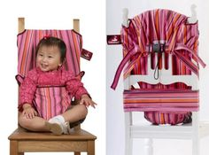 TrendyKid Totseat : Portable Fabric Highchair You can Carry Anywhere – Modern Baby Toddler Products Baby Diy Projects, Projects For Kids, Sewing Projects, Sewing For Kids, Baby Sewing, Travel High Chair, Baby Chair, Baby Fabric, Having A Baby