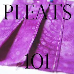 Sewing Pleats Tutorial