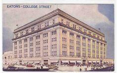 Eaton's Department Store College St Toronto Canada Postcard | eBay