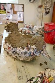 Rebeccas DIY: DIY: Fågelbad/skulptur i betong