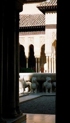 Patio de los Leones  Granada   detalle  Spain
