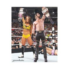 neth bellins on Tumblr ❤ liked on Polyvore featuring wwe and wwe couples
