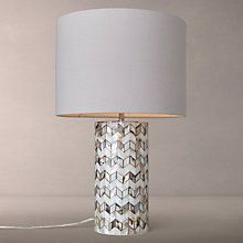 Add some style to your home with beautiful design table lamps like this shell patterned lamp from John Lewis