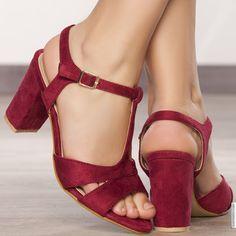 Sandales femme Bordeaux taille 39, achat en ligne Sandales femme sur MODATOI
