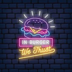 Burger Restaurant, Restaurant Design, Cute Black Wallpaper, Neon Wallpaper, Diner Sign, Bussines Ideas, Burger Night, Bar Logo, Neon Aesthetic