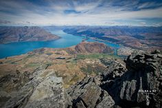 Queenstown and Lake Wakatipu, view from Remarkables