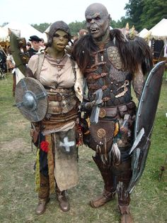 Image result for larp orc costume