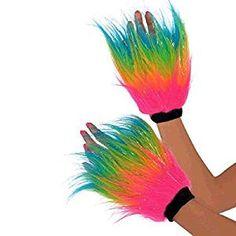 *werbung | Perfekt für die Verkleidung als Einhorn: Fell-Schweißband Regenbogen | Partykostüm | Einhornkostüm | Für Sport, Karneval oder Festival