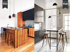 This or That: Kitchens via Dust Jacket Attic & Inside Out
