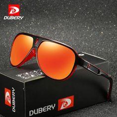 e6bd00fccad DUBERY 163 Polarized  Sunglasses Men Driving Men Mirror Goggle UV400 Luxury  Sunglasses
