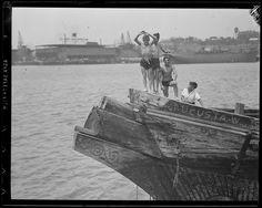 "Leslie Jones (1886-1967):  Kids on the Wreck of the ""Augusta""   (1930s)"