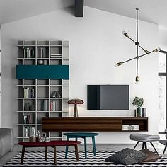 Luxury 'Galileo' TV Unit. Minimalist, elegant design. Resistant and durable materials. My Italian Living.