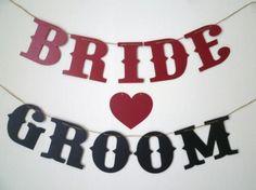 お薦め! 『Bride & Groom』 ガーランド - 「Nico's Secret」 おしゃれ花嫁さんのための、ウエディング・グッズ専門店