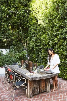 Dashing Dining - You're Going To Want To Steal Shay Mitchell's Backyard Decor - Photos