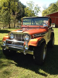 1974 Jeep reminds me of Mater from Cars. 1999 Jeep Wrangler, Jeep Cj7, Jeep Jeep, Jeep Wranglers, Wrangler Unlimited, Vintage Jeep, Vintage Cars, Jeep Scout, Badass Jeep