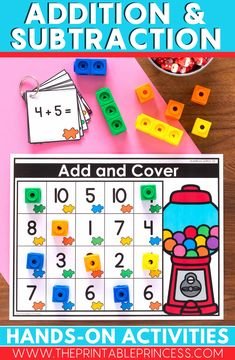 Solve and Cover is a fun activity to practice addition and subtraction. This resource includes 18 activities. There are 6 activities for each skill: addition, subtraction, and mixed addition and subtraction.