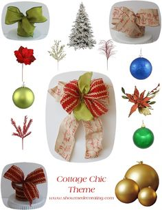 Burlap is in for Christmas! Cottage Chic Christmas Tree Ingredients.