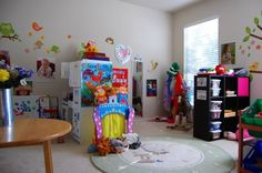 My new daycare room! Daycare Center and Family Home Forum Home Daycare Decor, Daycare Setup, Daycare Design, Classroom Design, Daycare Ideas, Baby Play, Infant Play, Play Spaces, Preschool Classroom
