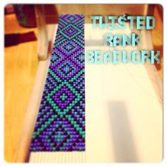 Another custom strip for cadet cap - Be sure to check out Twisted Rank Beadwork… Loom Bracelet Patterns, Beaded Bracelets Tutorial, Seed Bead Patterns, Bead Loom Bracelets, Woven Bracelets, Beading Patterns, Seed Bead Crafts, Seed Bead Jewelry, Seed Beads
