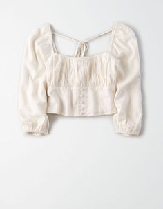 Shop Women's Blouses from American Eagle today! Our Blouses for Women are available in a variety of styles, colors and fits including lace, floral, peasant, smocked and more. Crop Top Outfits, Cute Casual Outfits, Pretty Outfits, Mode Kpop, Look Boho, Mens Outfitters, Eagle Outfitters, Teen Fashion Outfits, Fashion 2020
