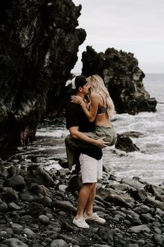 Zach + kaite couples session in hawaii anniversary shoot black sand beach © Cute Couple Quotes, Outdoor Workouts, Fun Workouts, Cute Couples Goals, Couple Goals, Love Handle Workout, Hawaii Elopement, Romance, Cute Relationships