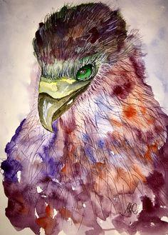 Watercolor Bird by mariamercedes feb17