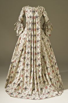 sack back gown 1770's-1780's