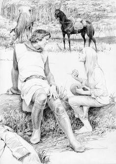 (Spoiler) Lady of The Lake Illustrations by Denis Gordeev - Album on Imgur